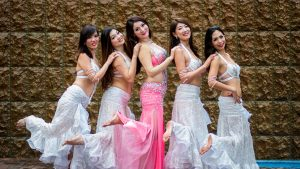 5 belly dancers group shot