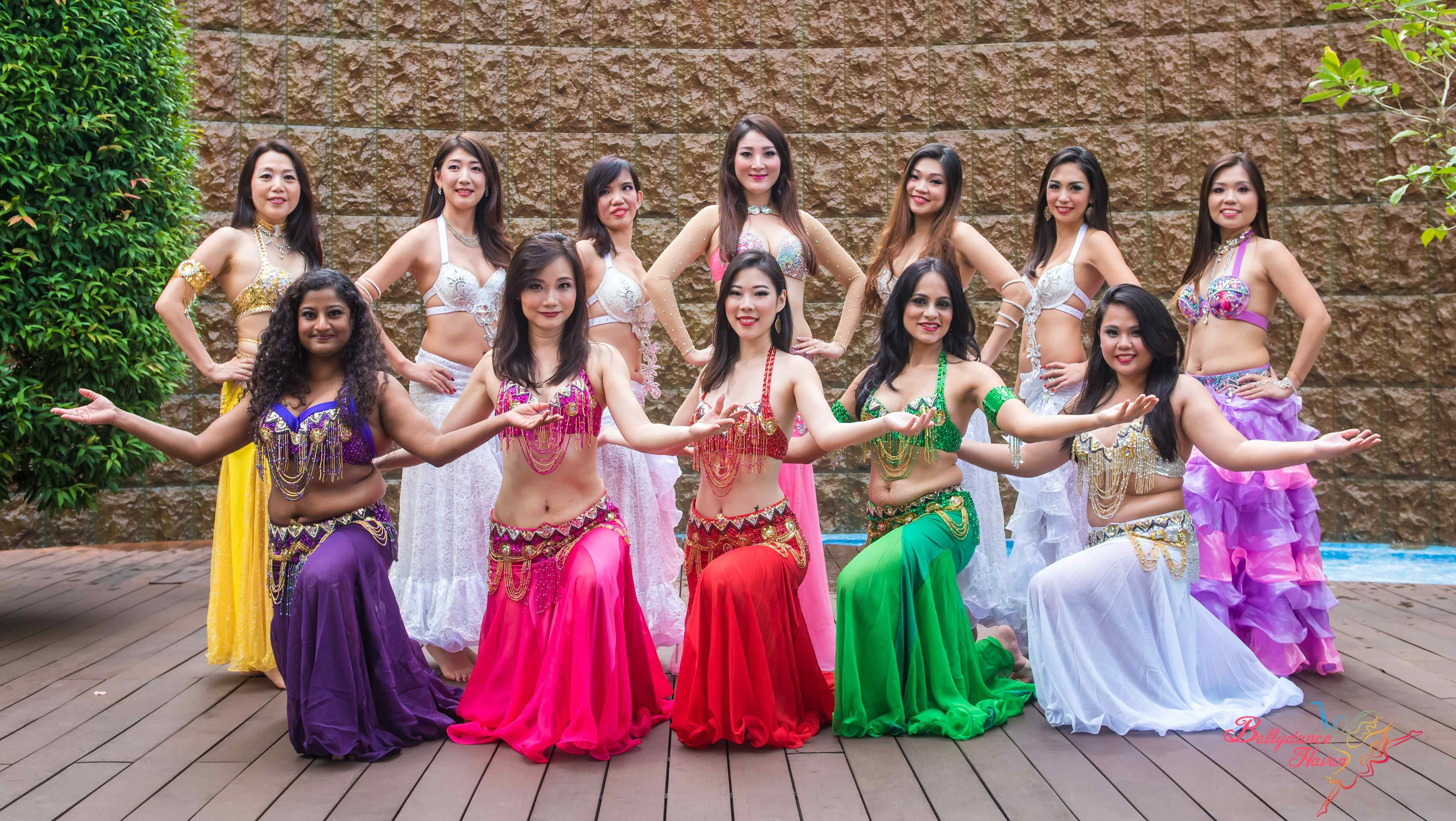 belly dancers in group