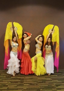belly dance pose